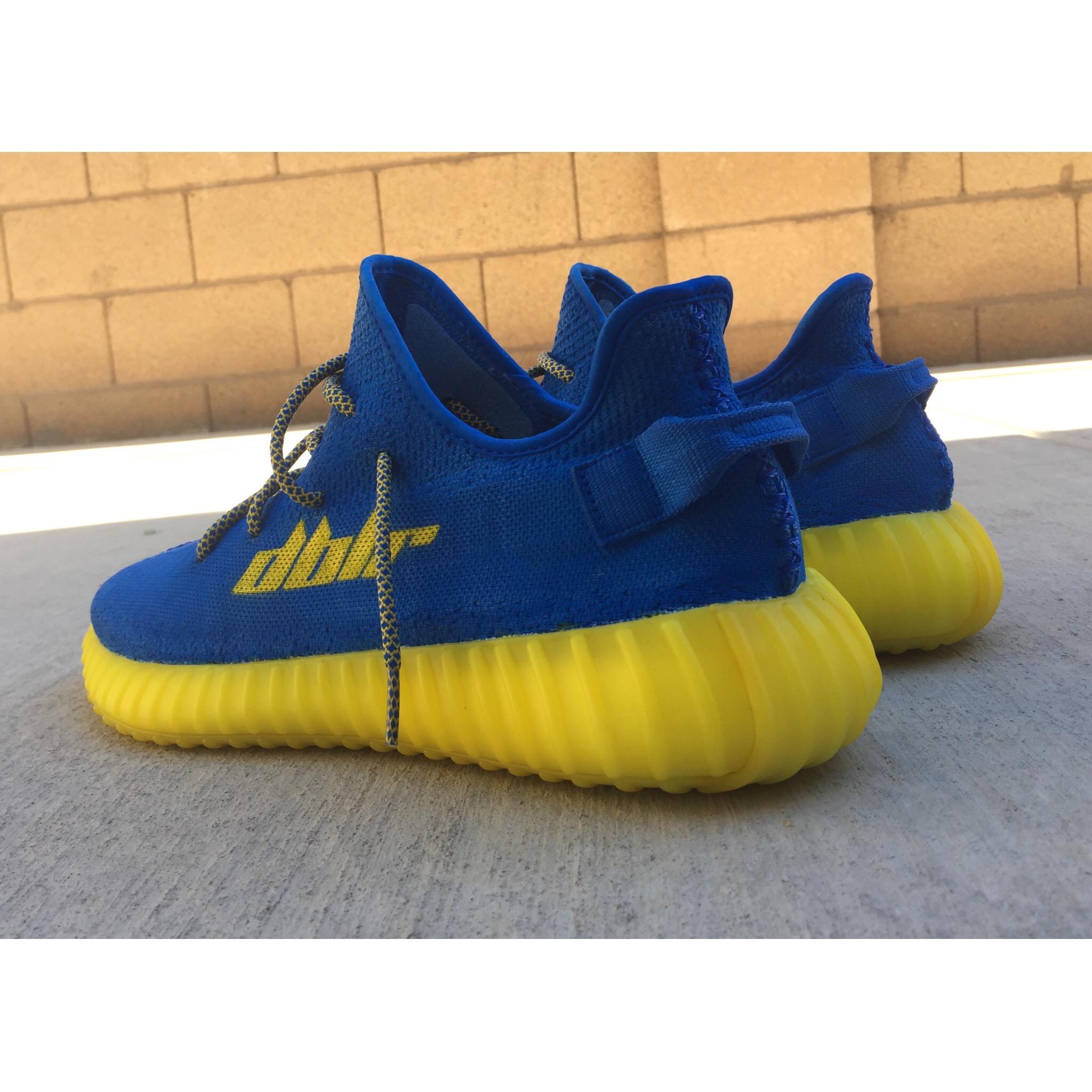 39f8d39188a46 Custom Adidas Yeezy 350 V2 x  iam DBLR x Golden State Warriors x Dubs x Dub  Nation Boost