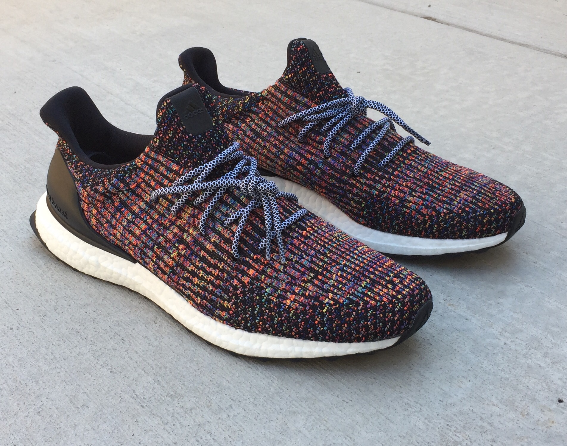buy popular a5b28 6d52e Custom Adidas Multi Color Ultraboost Uncaged  boost  boostvibes  iam DBLR Ultra  Boost